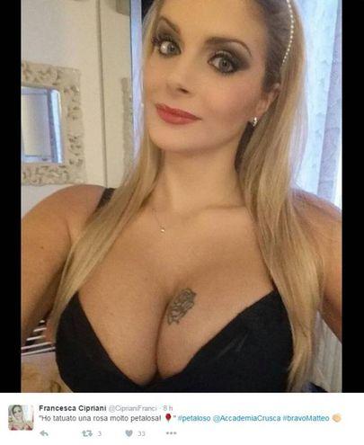 L'ex gieffina Francesca Cipriani (Foto da Twitter)