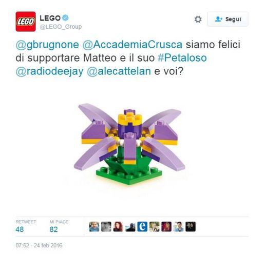 L'omaggio 'petaloso' della Lego