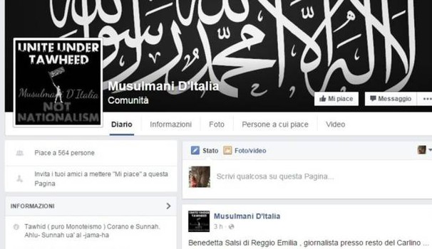 Il post su Facebook