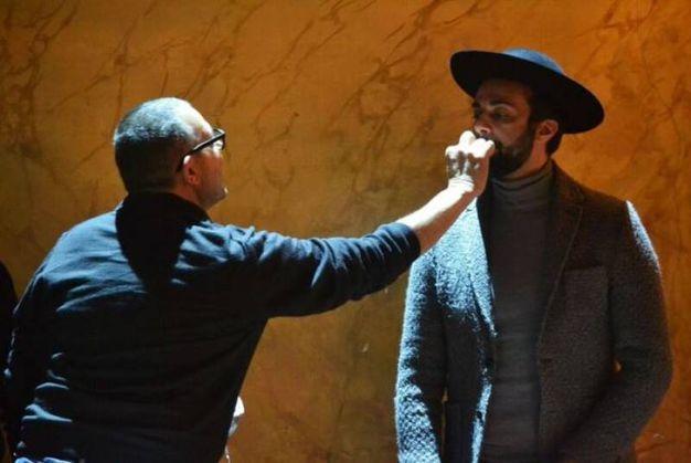 Allestimento del Rossini Opera Festival