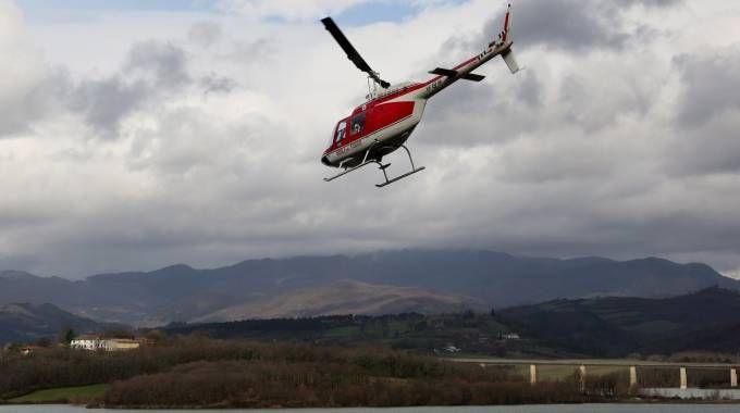 L'elicottero usato nelle ricerche (Germogli)