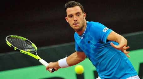 Pesaro, Marco Cecchinato vince il match di Coppa Davis