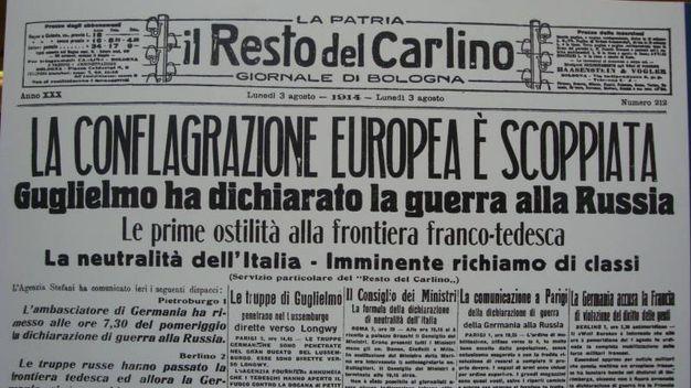 il Resto del Carlino (3 agosto 1914)