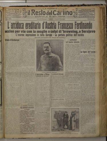 il Resto del Carlino (29 giugno 1914)