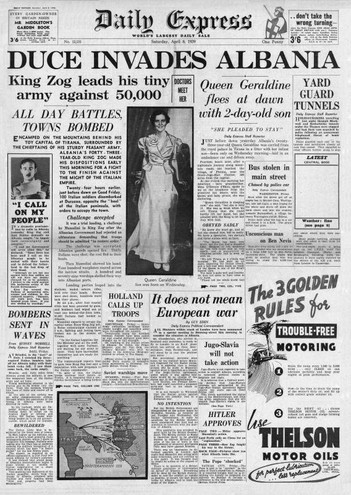 Daily Express (8 aprile 1939)