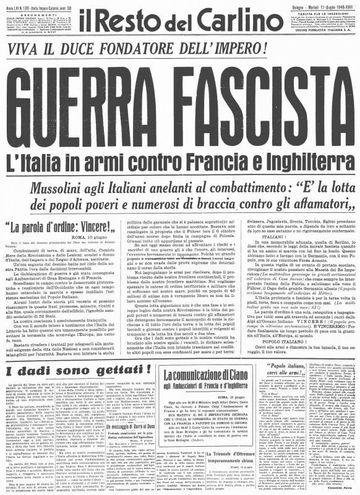 il Resto del Carlino (11 giugno 1940)