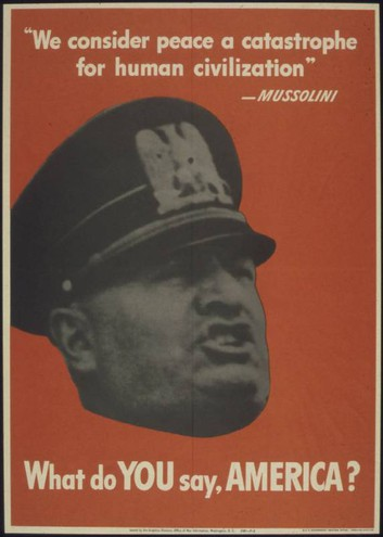 WHAT DO YOU SAY AMERICA (Mussolini)