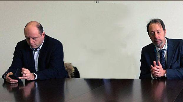 Il sindaco e l'assessore Stretti (foto Frascatore)
