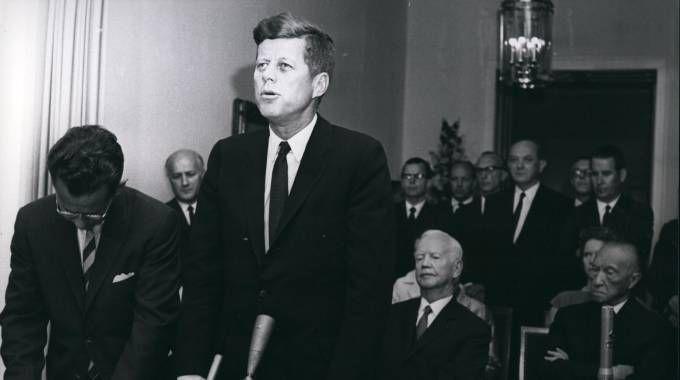 Il presidente John F. Kennedy in visita a Bonn