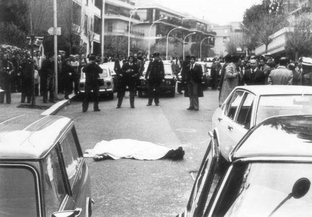 Via Fani, dove le Brigate Rosse uccisero agenti della scorta e rapirono l'on. Aldo Moro