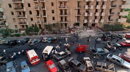 Il luogo della strage avvenuta il 19 luglio 1992