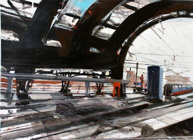 Pisacane Arte - Alessandro Russo - Stazione centrale retouche