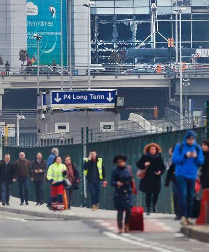 L'attentato all'aeroporto di Zaventem (Lapresse)