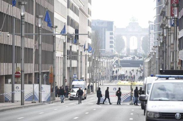 L'attentato alla metropolitana di Bruxelles (Olycom)