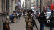 L'attentato alla metropolitana di Bruxelles (Ansa)