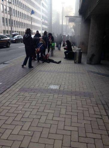 L'attentato alla metropolitana di Bruxelles (Twitter)