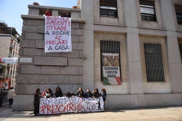 Presidio ex lavoratori della Provincia di Milano
