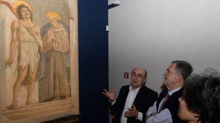 Frasca/MOSTRA PIERO DELLA FRANCESCA vksita di ROmano Prodi con la moglie Flavia