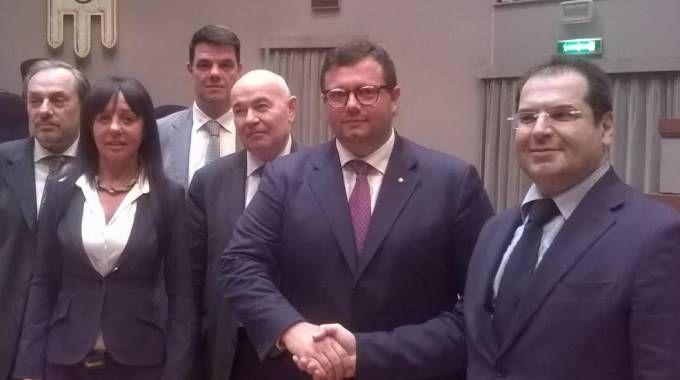 Roberto Cercone con Mirco Carloni della Regione