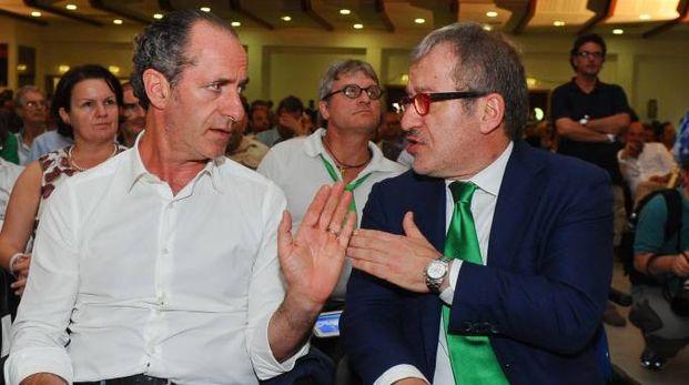 Luca Zaia e Roberto Maroni (Newpress)