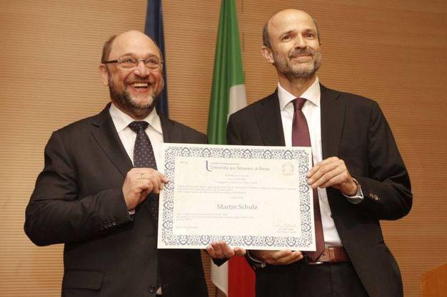 Laurea honoris causa in Scienze linguistiche e comunicazione interculturale a Martin Schulz, presidente del Parlamento europeo (Foto Lazzeroni)