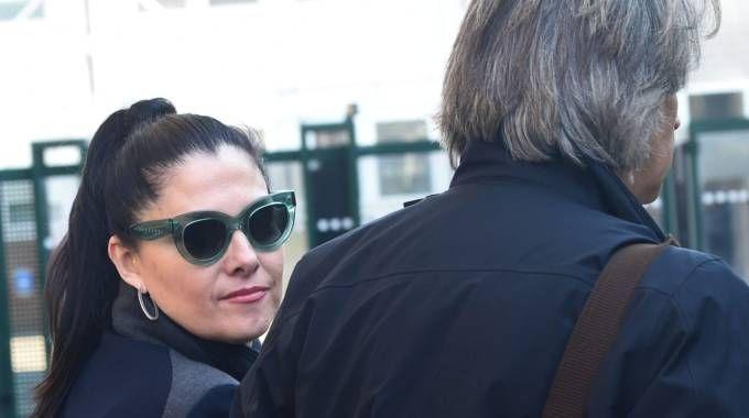 Roberta Tattini all'ingresso delle udienze in Fiera