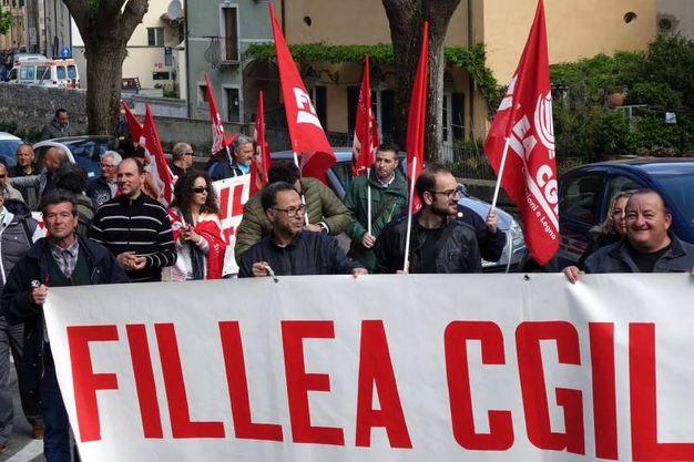 La manifestazione per la sicurezza sul luogo di lavoro (foto Umicini)