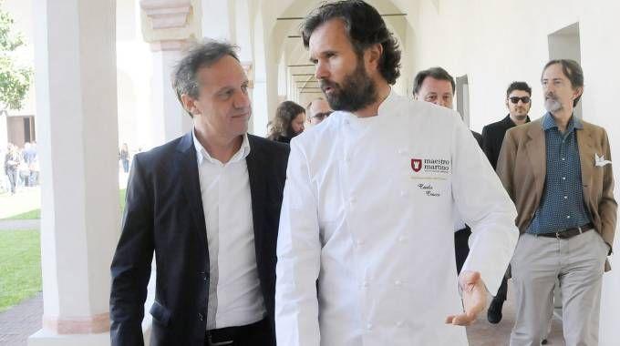 Il sindaco Arrara e Carlo Cracco