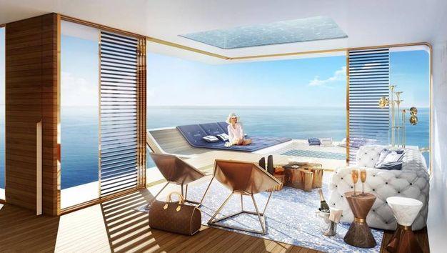 Dubai ecco le prime ville galleggianti sotto la camera for Tre piani di casa camera da letto ranch