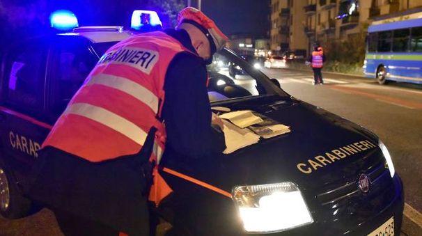 I carabinieri sono intervenuti nella notte
