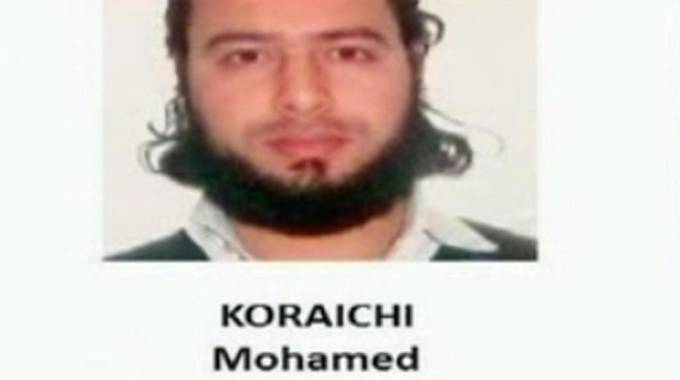 Un fermo immagine tratto da un video dei carabinieri mostra Mohamed Koraichi
