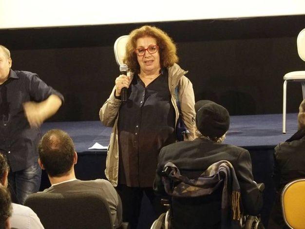Athina Cenci e Francesco Nuti al cinema Terminale di Prato (foto Attalmi)