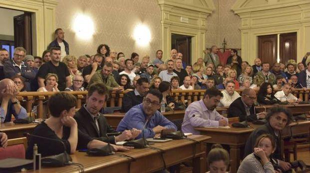 Un momento del consiglio comunale di venerdì 13
