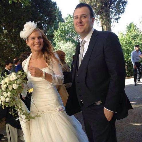 Michela Noli e Mattia Di Teodoro il giorno del matrimonio (foto tratte da Facebook)