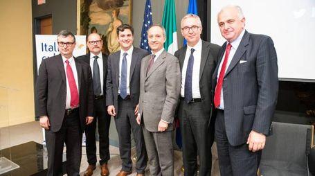 Urbino Press Award, da sin: Giovanni Lani, Gabriele Cavalera, Mark Mazzetti, Armando Varricchio, Luca Ceriscioli, Maurizio Gambini (foto Derek Parks)