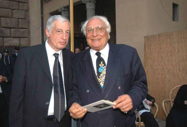 """Marco Pannella con Cosimo Ceccuti della """"Fondazione Spadolini"""" (New Press Photo)"""