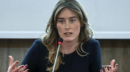 Il ministro per le Riforme e i Rapporti con il Parlamento, Maria Elena Boschi, a Roma in una foto del 21 marzo 2016. ANSA/ANGELO CARCONI