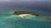 Una visione aerea dell'isola