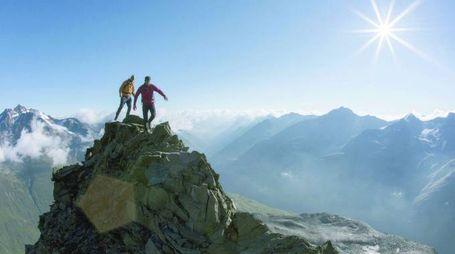 Una delle cime che permettono  di abbracciare dall'alto l'intera Otztal