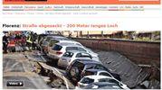 "Voragine lungarno Torrigiani a Firenze,  la notizia sui media internazionali: ""Spiegel Online"""