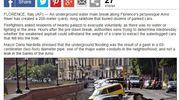 """Voragine lungarno Torrigiani a Firenze,  la notizia sui media internazionali: """"Daily Mail"""""""