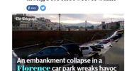 """Voragine lungarno Torrigiani a Firenze,  la notizia sui media internazionali: """"Telegraph"""""""