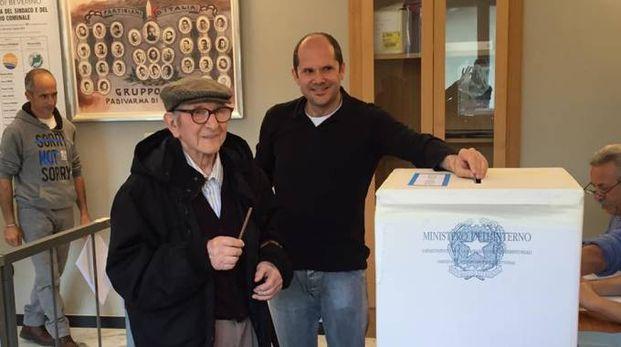 Antonio Tassora ha votato a Beverino (La Spezia)
