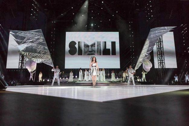Il palco di San Siro, dopve Laura Pausini è protagonista