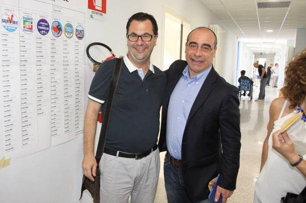 Elezioni comunali 2016:  Spadoni e Castagna (Foto Sgattoni)