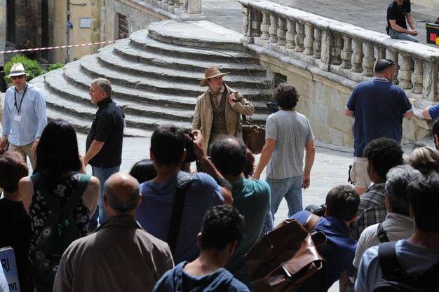 Set in piazza Grande: la giornata dei divi