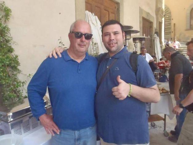 Set in piazza Grande: Stefano Conti, selfie con Roger Michell