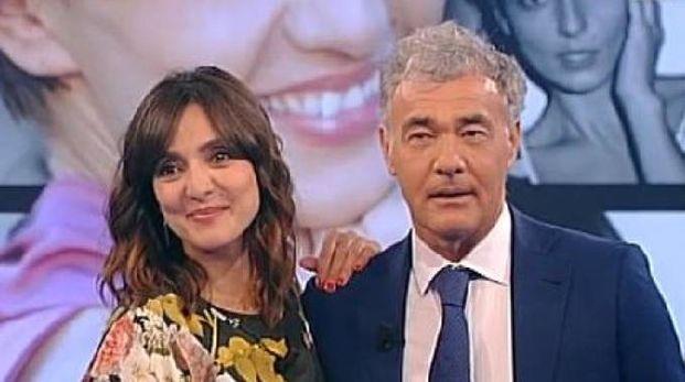Ambra Angiolini e Massimo Giletti (da twitter 'L'Arena')