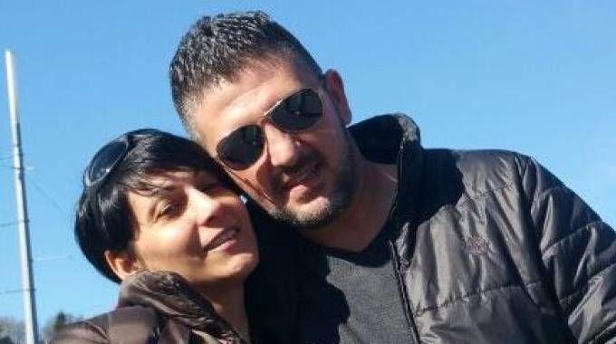 Salvatore Ciammaichella e la compagna Monia Desole