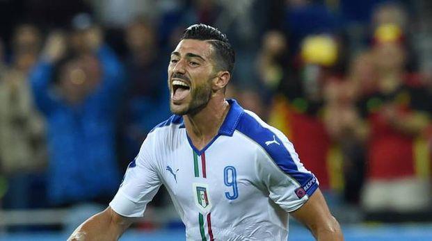 Graziano Pellè esulta dopo il 2-0 sul Belgio (Alive)